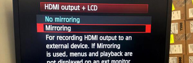 4:2:2!5D Mark IIIHDMI
